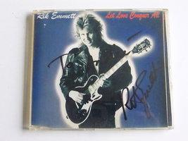 Rik Emmett (Triumph)- Let love conquer all (cd single) gesigneerd