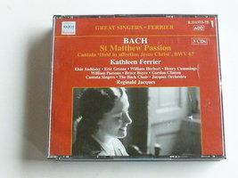 Bach - St. Matthew Passion / Kathleen Ferrier (3 CD)