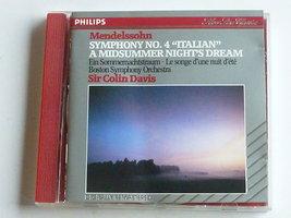Mendelssohn - Symphony 4, midsummer night's dream / Sir Colin Davis
