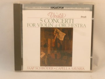 Vivaldi - 5 Concerti / Jaap Schröder (Capella Savaria)