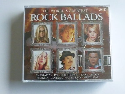 The world's  greatest Rock Ballads (3 CD) Nieuw