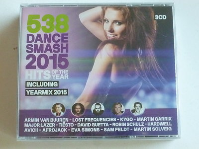 538 Dance Smash 2015 Hits (3 CD) Nieuw