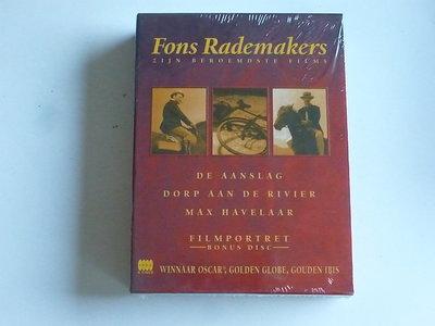 Fons Rademakers - zijn beroemdste films / De Aanslag, Max Havelaar/Dorp aan de rivier (4 DVD) nieuw