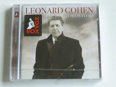 Leonard Cohen - Toronto '88 (nieuw)