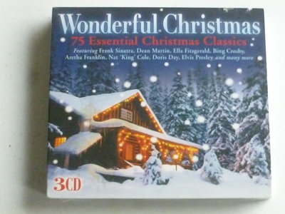 Wonderful Christmas - 75 essential Christmas Classics (3 CD) Nieuw