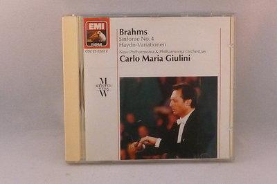 Brahms - Sinfonie no. 4 / Carlo Maria Giulini